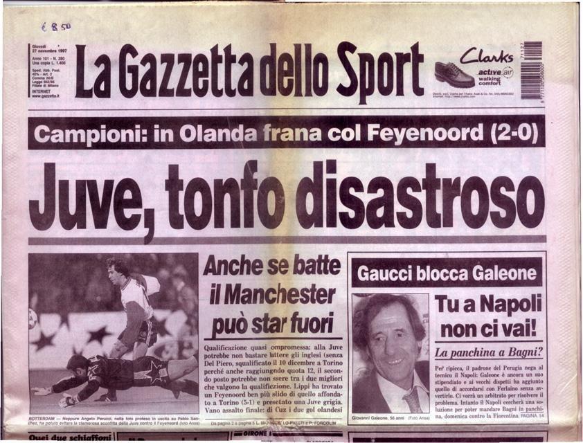 --- - La Gazzetta dello Sport. Giovedi 27 novembre 1997