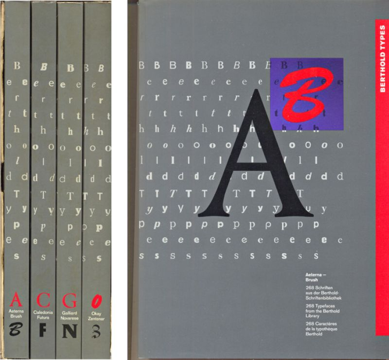 --- - Berthold Types [tekst DU-EN-FA]. 4 delen A-B; C-F; G-N; O-Z.