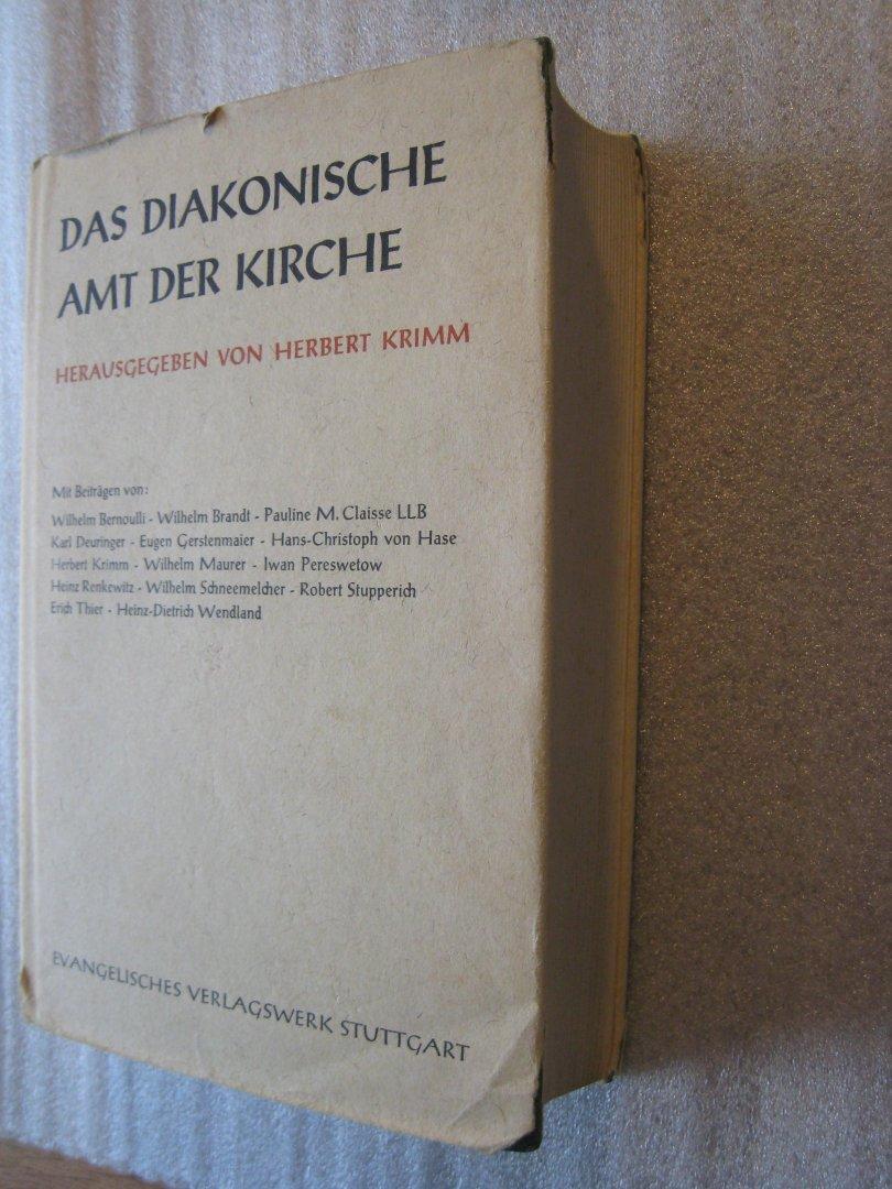 Krimm, Herbert (Hrsg.) - Das diakonische Amt der Kirche