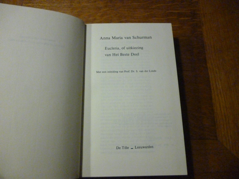 Schurman van Anna Maria - Eucleria, of uitkiezing van het beste deel
