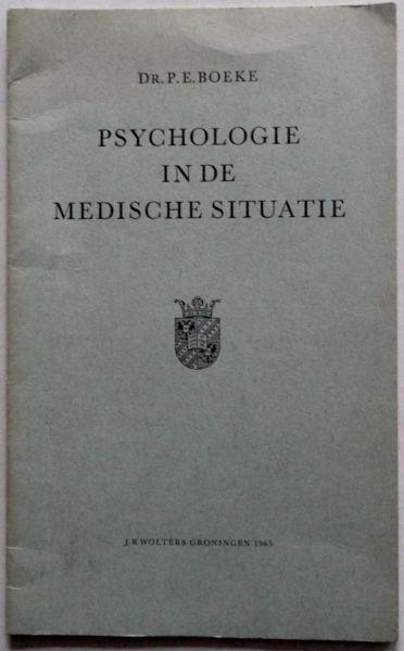 Boeke E P - Psychologie in de medische situatie. Openbare les