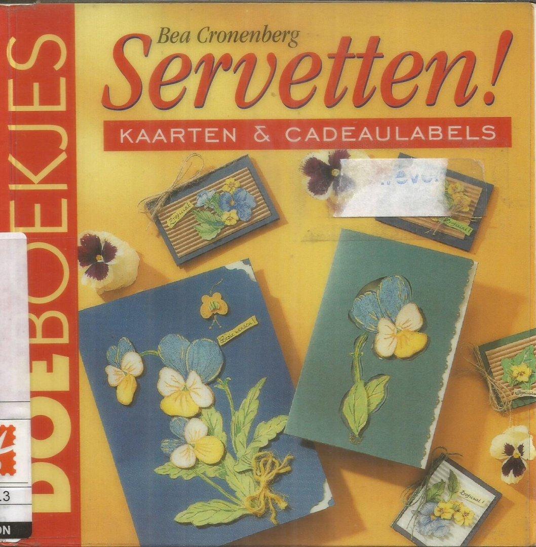 Cronenberg, Bea - Servetten! - Kaarten & cadeaulabels