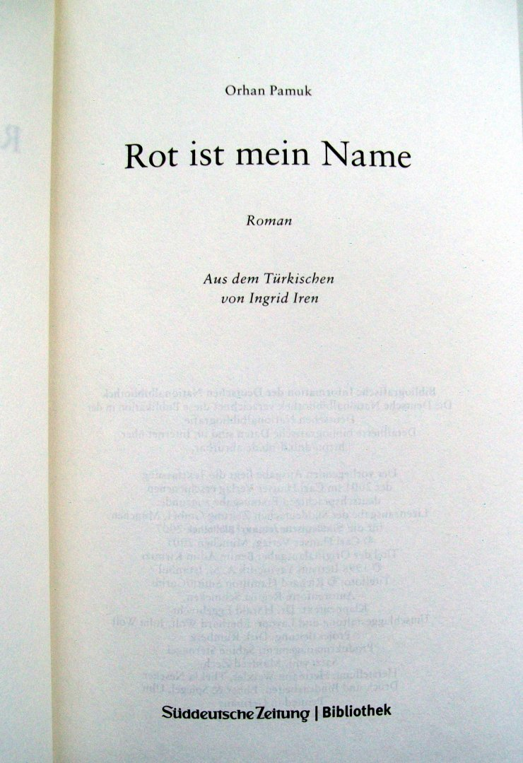 Orhan Pamuk - Rot Ist Mein Name