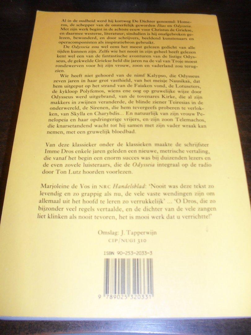 Boekwinkeltjesnl Homerus Vertaling Van Imme Dros Odysseia