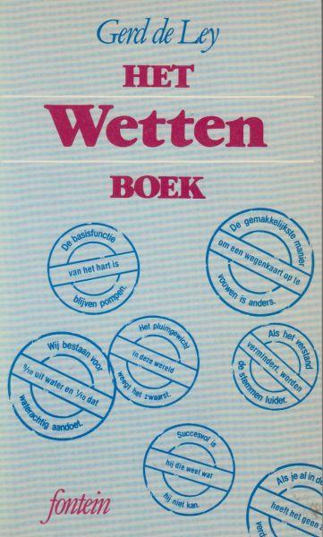 Ley (Gent, 7 april 1944), Gerd de - Het wettenboek