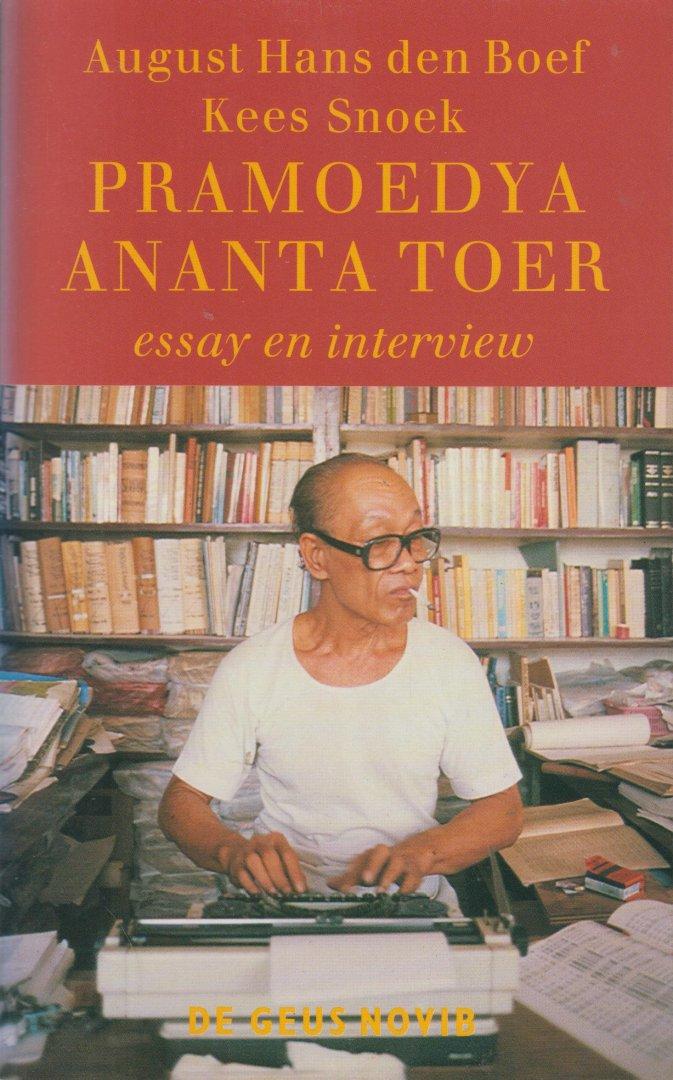 Boef en Kees Snoek, August Hans den - Pramoedya Ananta Toer, essay en intervieuw