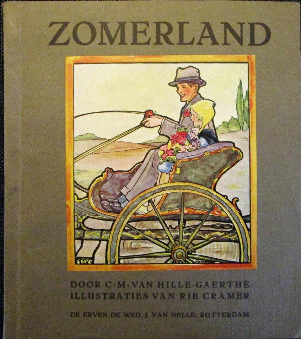 Van Hille-Gaerthé, C.M. - Zomerland - COMPLEET plaatjesalbum met 13 prachtige illustraties van Rie Cramer