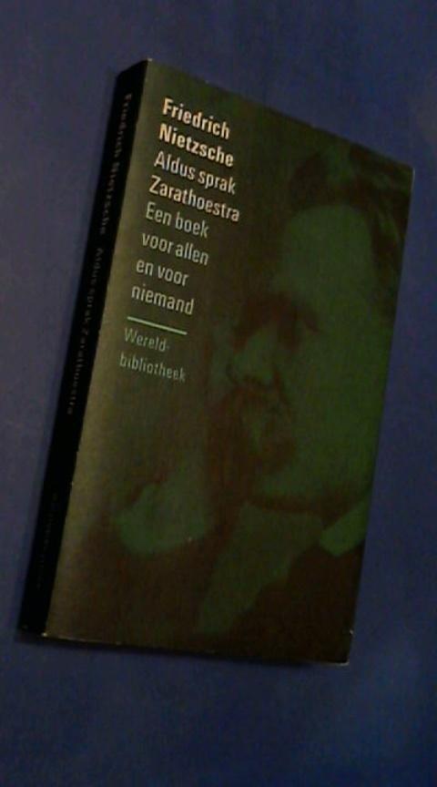 Boekwinkeltjesnl Aldus Sprak Zarathoestra Een Boek Voor