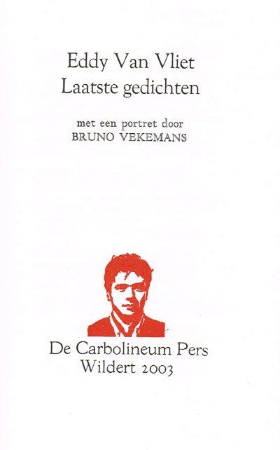 Van Vliet, Eddy - Laatste gedichten