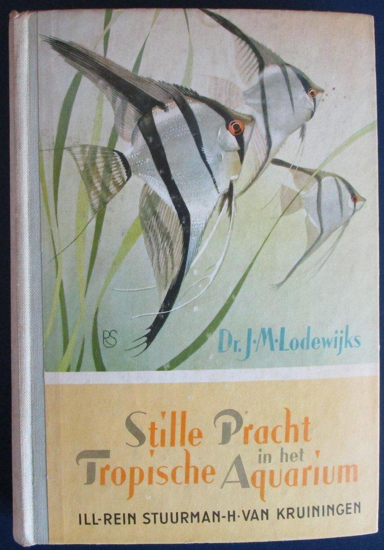 Lodewijks, J.M. - Stille pracht in het tropische aquarium - COMPLEET plaatjesboek met plaatjes naar aquarellen van Rein Stuurman en H. van Kruiningen