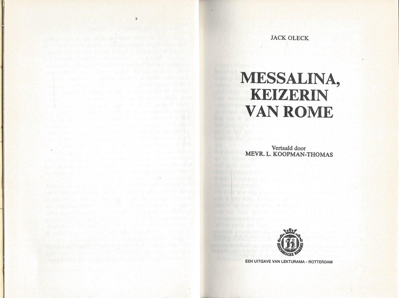 Oleck, Jack - MESSALINA KEIZERIN VAN ROME - HISTORISCHE ROMAN