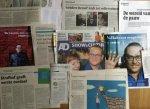 Lanoye, Tom - Aantal (11) knipsels over en rond Lanoyes boekenweekgeschenk 'Heldere hemel'