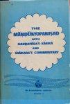 Swami Nikhilananda (translated and annotated by) - The Mandukyopanisad with Gaudapada's Karika and Sankara's commentary