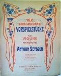 Seybold, Arthur: - Vier kleine, ganz leichte Stücke für Violine mit Pianoforte. Op. 113. No, 4, Fackelzug