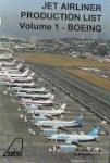 J. Roach, A.B. Eastwood - Jet airliner Production list Volume 1 - Boeing    june 1995 or August 1997