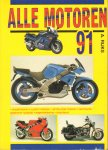 Rijks, A. - Alle Motoren 1991, 191 pag. kleine paperback, Alk nr. 866, goede staat