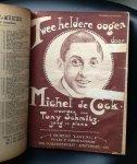 diversen - Ingebonden collectie van bladmuziek met zangteksten, duetten, humoristische scenes e.d periode rond 1920