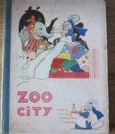 Ridder, P.J. en Mallet, Beatrice (ills.) - Zoo-Stad (Nieuwe Spelling) Op voorplat staat nog Zoo-City