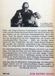 """Bentz, Hans G. - Alle lieben Peter (Ein wiedersehen mit dem Hundetrio Weffi, Peter und Cocki aus dem Buch """"Der Bund der Drei"""") (DUITSTALIG)"""