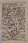 antique map (kaart). - Die Belagerung von Belfort und die Kampfe an der Lisaine 1871.