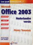 Temmink, Henny - Microsoft Office 2003 - Nederlandse versie