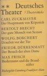 melchinger, s (nachwort) - deutsches theater, 5 theaterstücke