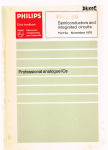 Philips - 5a : Semiconductors and integrated circuits part 5a  November 1976 : Professional analoque i.c.'s ( ics )