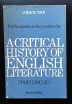 David Daiches - A Critical History of English Literature  The Romantics to the present day volume 4