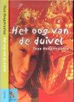 Hoogstraaten, Theo  en Beeldhouwer Hans 't Mannetje  ontwierp en hakte in opdracht van de Gemeente Amsterdam voor de ingangspartij van het Wertheimpark - Het Oog van de Duivel