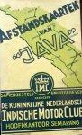 Koninklijke Nederlandsch Indische Motor Club,plm. 1930. - Afstandskaarten van Java.