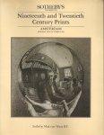 Sotheby's - Veilingcatalogus , nineteenth and twentieth century prints, 8 october 1984