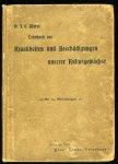 WEISS, J. E - Kurzgefaßtes Lehrbuch der Krankheiten und Beschädigungen unserer Kulturgewächse. Ein Leitfaden zum Unterricht an Schulen sowie zur Selbstbelehrung. Mit 134 Abbildungen