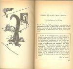 Bomans, Godfried .. Omslagontwerp en bandstempel  F. van Uden  met illustraties van  C. Boost - Buitelingen. Aforismen, buitelingen en andere capriolen.