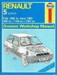 - Renault 5 (petrol) Feb 1985 to June 1987 956 cc 1108 cc 1397 cc Owners Workshop Manual