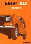 ANWB - Koop + Rij Renault 4, 99 pag. paperback, goede staat