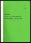 - 2e jaar voltijd pedagogiek ( 1997 )reader:levenslooppsychologie volwassenen en ouderen 315