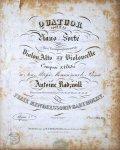 Mendelssohn, Felix: - [Op. 1] Quatuor pour le piano forté avec accompagnement de violon, alto et violoncelle. Composé & décié à Son Altesse Monsieur le Prince Antoine Radzwill. Oeuvre 1