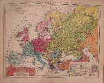 antique map (kaart). - Ethnograpische Karte von Europa.