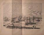 antique print (prent) - Kopenhagen. (Copenhagen)