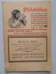 Diverse auteurs - Philobiblon. Eine Zeitschrift für Bücherfreunde. A magazine for book-collectors. 4 Jahrgang, heft 10, 1931