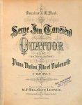 Tanejew, Sergei: - Quatuor en Mi en trois parties pour piano, violon, alto et violoncelle. Op. 20