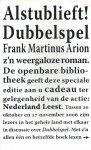 Arion, Frank Martinus - DUBBELSPEL - HET VERHAAL VAN EEN VERBAZINGWEKKEND WERELDRECORD