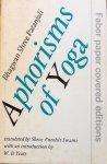 Bhagwan Shree Patanjali (text) / Shree Purohit Swami (tranlation) / W.B. Yeats (introduction) - Aphorisms of Yoga