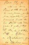 Pedrotti, Carlo: - [Eigenh. Brief mit Ort, Datum und Unterschrift]