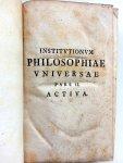 Winkler, Johann Heinrich - Institutionum Philosophiae Universae Pars II Activa