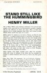 Miller, Henry (ds1354) - Stand Still Like the Hummingbird