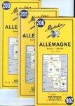 -- - Allemagne, 3 kaarten: 203 [Köln-Saarbrücken], 205 [Karlsruhe-Basel], 206 [Heilbronn-Bregenz]. 1:200.000
