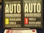 Wagenaar Hummelinck, H. - Autowoordenboek / 1 Engels-Nederlands  7e druk / en 2 Nederlands Engels / druk 4
