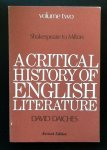 David Daiches - A Critical History of English Literature  Shakespeare to Milton Volume 2