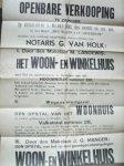 (zaanstreek). - Openbare Verkooping te Zaandam (..) Woon en Winkelhuis (..) Hoogendijk nummer 130 (..) Wilhelminastraat 18 en 18 a (..).